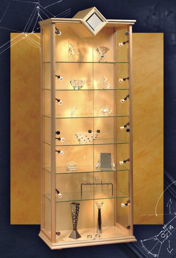 Tiendapedidos Vitrinas De Lujo Para Coleccionistas Bañada En Oro